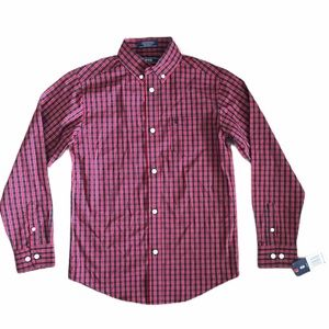 NWT IZOD Boys button  down Shirt long sleeve